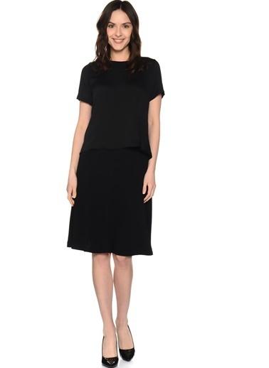 Beymen Studio Yarım Kol Bluz Siyah